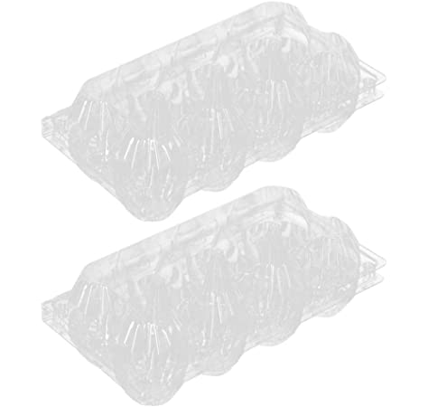UPKOCH 30Pcs Caja de Cartón de Huevos de Plástico Bandejas de Huevos Transparentes Caja de Almacenamiento de Huevos Caja Dispensadora de Huevos con 10 Rejillas para Refrigerador Acampar Al Aire Libre: Amazon.es:
