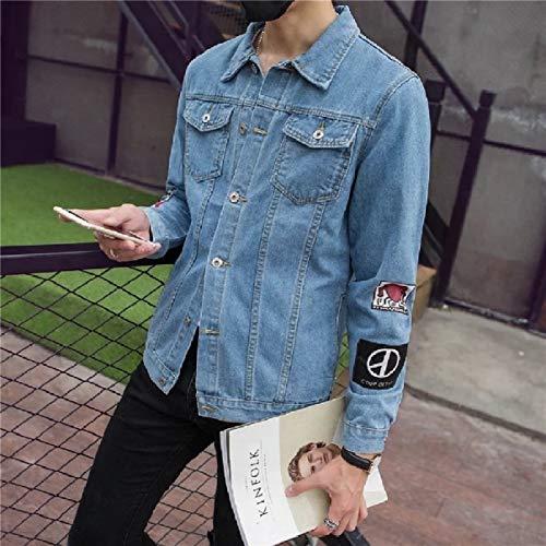 Classic Slim Blue Patches Trucker Energy Mens Jacket Denim Juniors Regular qEwgx66Stz