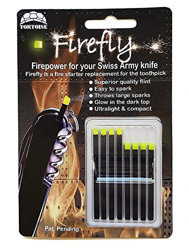 Firefly Variety 8 Pack - Fire Starter Accessory for Swiss Army Victorinox Knives (Neon Green-Yellow Glow)