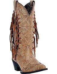Laredo Womens Tygress Fringe Cowgirl Boot Snip Toe - 52031