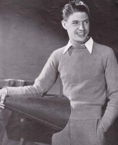 Northwestern Raglan Slip-Over Pullover Sweater Knit Knitting Pattern Size 38 (Sweater Slip Pullover)
