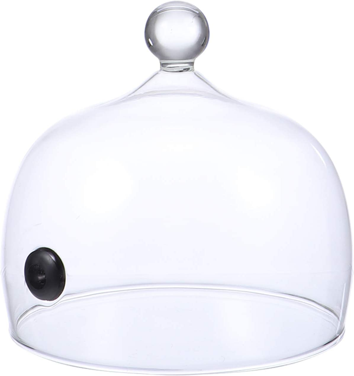 Cabilock Smoking Cloche Dome Cover Smoke Infuser Cloche Bell Jar Glass Display Dome Kitchen Food Cover for Smoke Infuser Smoker 15cm