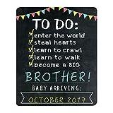 big signs - Pearhead Big Sibling Announcement Photo Sharing Prop Chalkboard, Black