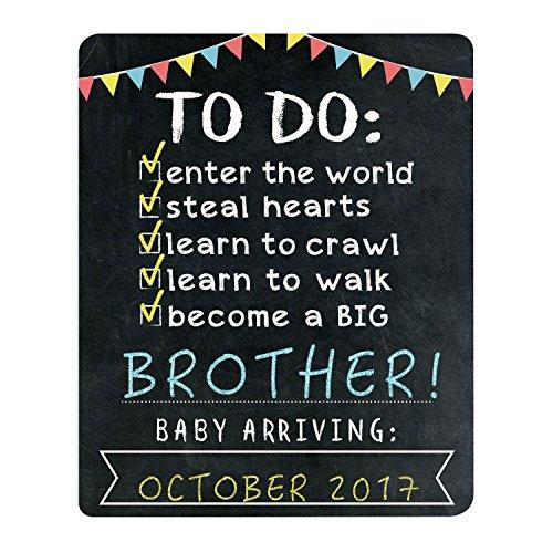 Pearhead Big Sibling Announcement Photo Sharing Prop Chalkboard, Black