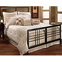 Hillsdale Furniture 1334BKR Tiburon Bed Set with Rails, King, Magnesium Pewter