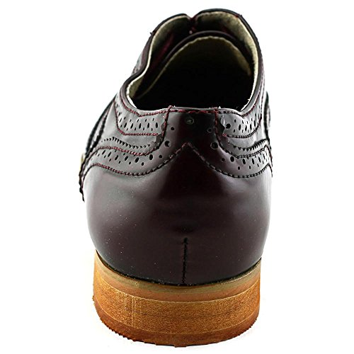 Wanted Shoes Frauen Babe Oxfords Burgundy