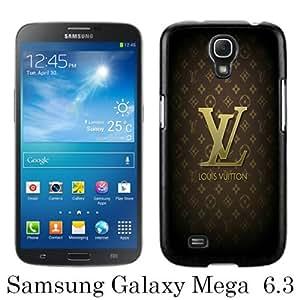 Unique Samsung Galaxy Mega 6.3 I9200 I9205 Skin Case ,Fashionable And Durable Designed Phone Case With Brown L-V-P Black Samsung Galaxy Mega 6.3 I9200 I9205 Screen Cover Case