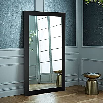 "BrandtWorks, LLC BM002T Oversized Wall Mirror, 32"" X 71"", Matte Black,32"" X 71"" - Proud to be American Made Hanging hardware for vertical or horizontal installation Included Crafted by Hand - mirrors-bedroom-decor, bedroom-decor, bedroom - 51MSpI L4wL. SS400  -"