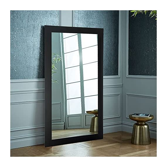 """BrandtWorks, LLC BM002T Oversized Wall Mirror, 32"""" X 71"""", Matte Black,32"""" X 71"""" - Proud to be American Made Hanging hardware for vertical or horizontal installation Included Crafted by Hand - mirrors-bedroom-decor, bedroom-decor, bedroom - 51MSpI L4wL. SS570  -"""