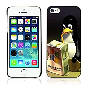 Colorful Printed Hard Protective Back Case Cover Shell Skin for Apple iPhone 5 / 5S ( Linux VS Windows )