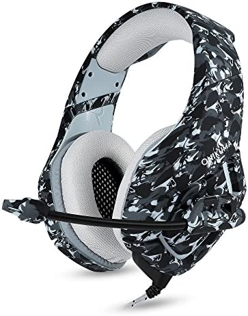 PS4 HeadphonesMicrophone Super Stereo Gaming Headset for Pc Xbox One Camouflage Headphones