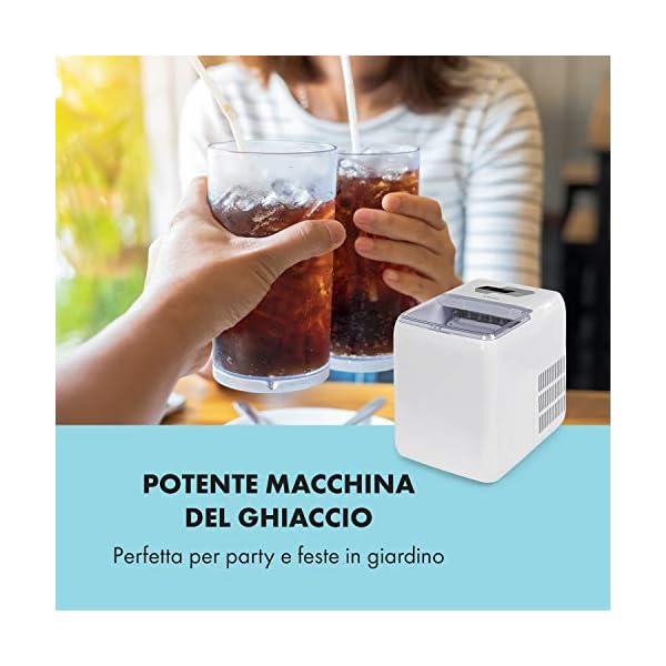 Klarstein Coolio - Macchina per il Ghiaccio, Icemaker, Fabbricatore Ghiaccio, Ghiaccio Trasparente, 20 kg al Giorno… 2 spesavip