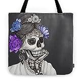 Society6 Caravela Dia De Los Muertos / Mexican Skull Tote Bag 18'' x 18''
