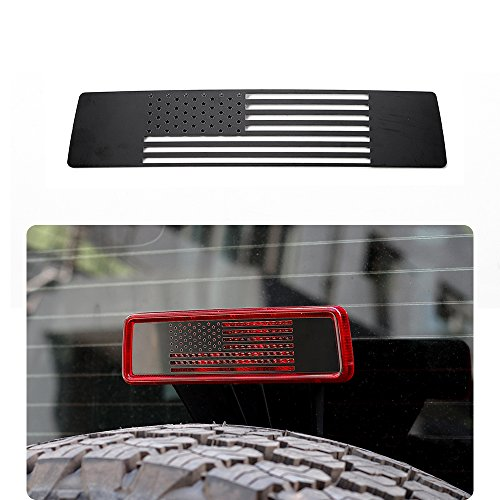 JeCar Third Brake Light Cover Stainless Steel for 2007-2018 Jeep Wrangler JK JKU, ()