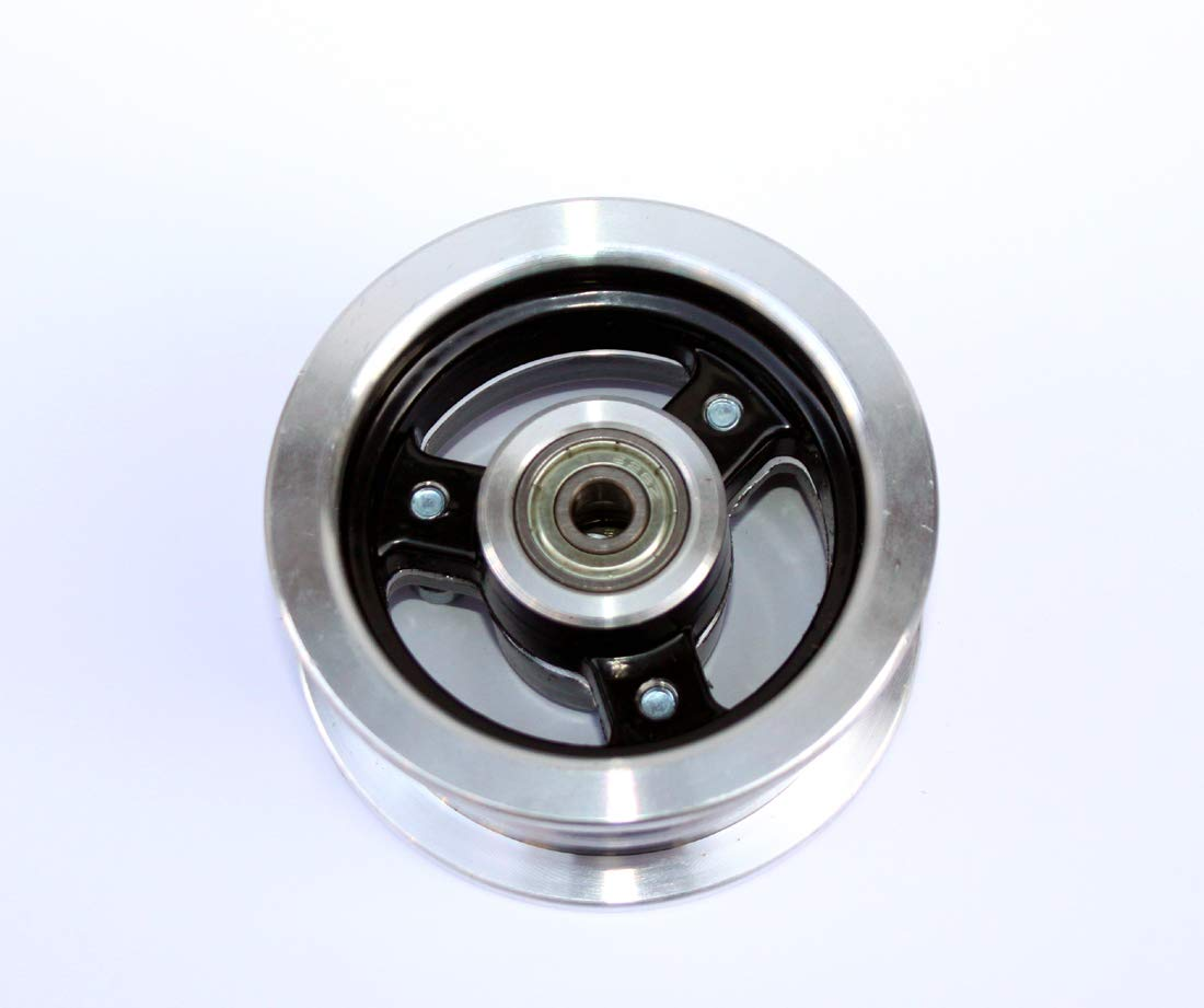 L-faster 6 Inch Scooter Wheel 6x2 Wheel with Air Tire Or Solid Tire Metal Hub with 608 Bearings 8mm Axle Hole Trolley Cart Wheel (Hub only)