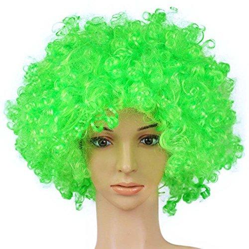 TXIN Halloween Afro Clown Curly Circus Hair Colorful Halloween Costume Wig 70's 80's Retro Disco -
