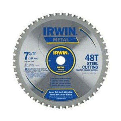 IRWIN Tools Metal-Cutting Circular Saw Blade, 7 1/4-inch, 48T (4935555) - Blade Saw Cut Circular Off
