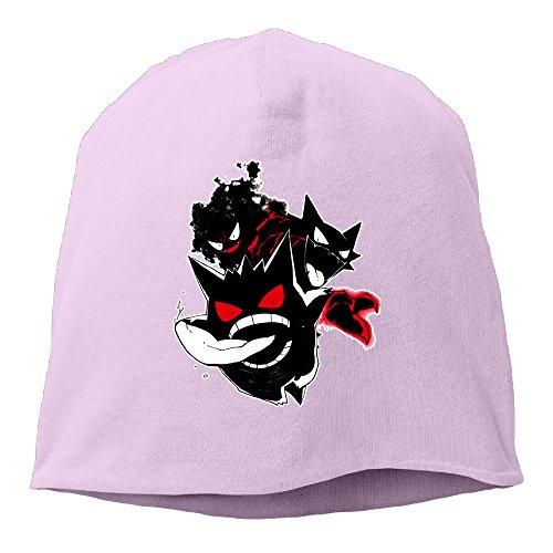 poy-sain-gengar-gym-unisex-heather-beanie-pink