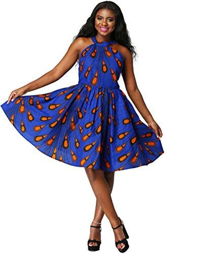 2ee8ebd887b3 Shenbolen Women African Ankara Batik Print Traditional Clothing ...