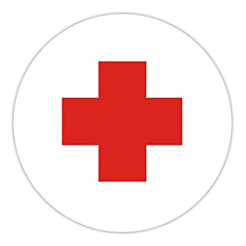 Rotes kreuz symbol  easydruck24 Aufkleber Deutsches Rotes Kreuz I 10 cm I Hinweis ...