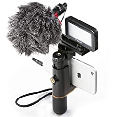 Color:Luxury Bundle        Take your Smartphone Video to the next level!   Mouriv Professional Smartphone Video Photography Kit,Combines everything you need to capture pro audio and video for your smartphone--- Portable iPhone Filmmaking Sma...