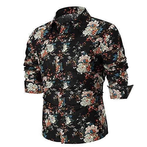 Polo, Camisetas, Blusa, BaZhai, Polo B de Manga Larga de Hombre del Camisa de Manga Larga con Estampado Delgado de la Personalidad de los Hombres Arriba ...