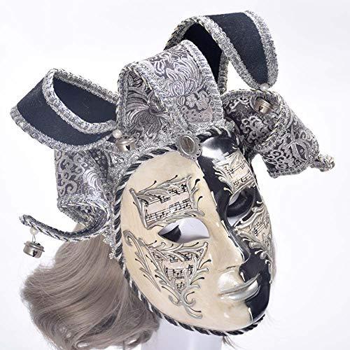YCWY Venetian Mask, Handmade Gold Mask Venetian Party Mardi Gras Costume Joker Masquerade Full Face Mask Mardi Gras -