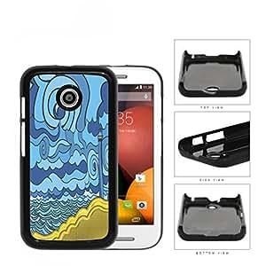 Psychedelic Aqua Seashore Lighthouse Hard Plastic Snap On Cell Phone Case Motorola Moto E