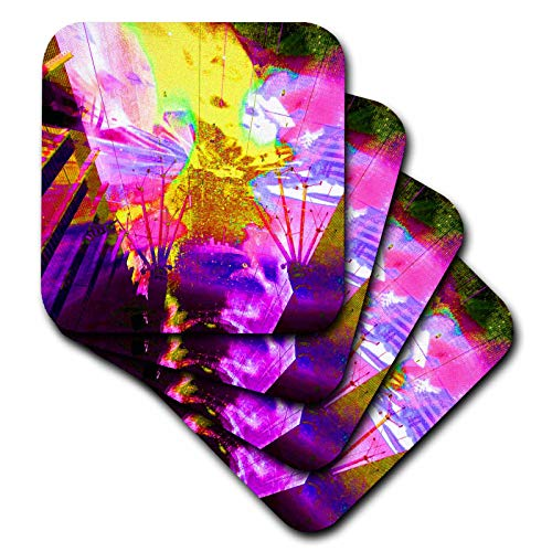 3dRose Jos Fauxtographee- Freemont Street Art - Light art from Freemont Street in Las Vegas Nevada - set of 8 Coasters - Soft (cst_317879_2)
