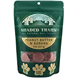 Shaded Trails All Natural Crunchy Dog Treats 8 oz - Vegan & Grain Free (Peanut Butter & Banana)