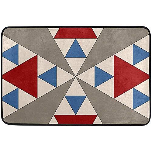 - Starogs Panama Pyramids Block Doormat, Entry Way Indoor Outdoor Door Rug with Non Slip Backing, (23.6 by 15.7-Inch)