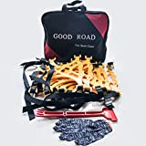Bentolin 2016 Anti Slip Chain/tire Chains of Car,SUV, Snow Tire Chains, Fully Enclosed Universal Emergency Pure Tendon Thickening Anti-skid Chains(set of 6),give Snow Shovel, Glove
