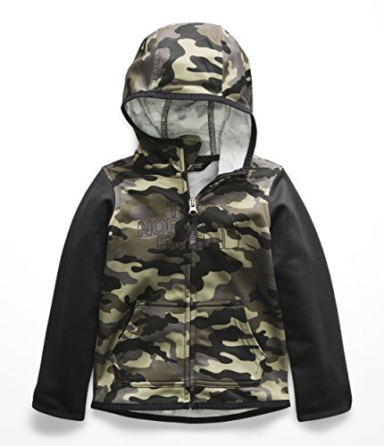 The North Face Todd Surgent Full Zip Hoodie - New Taupe Green Camouflage Print - (Toddler Full Zip Jacket)