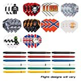 10 Sets Assorted Nylon Shafts Plus 10 Sets Assorted Dart Flights - GREAT VALUE by Red Dragon Darts