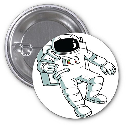 Astronaut Costume Pattern (Astronaut Costume Image Design Print Artwork Pattern 2 PACK of 3 Inch Buttons Flare by Trendy Accessories)