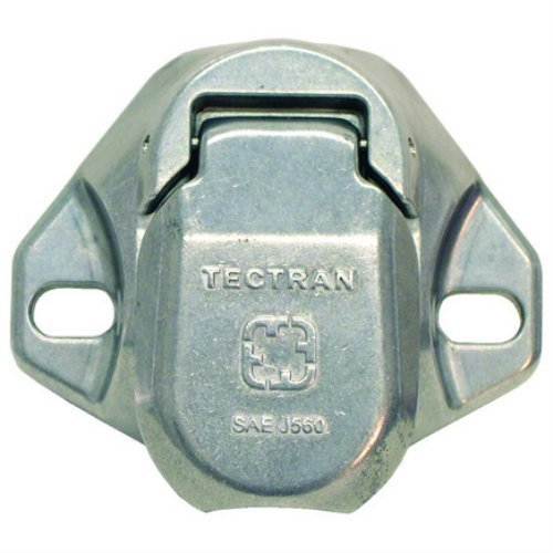 Tectran 670-28 Dual Pole Plug & Socket Tarp Systems Connector, Vertical Socket Assembly with 4 & 6 Gauge terminals Included by Tectran