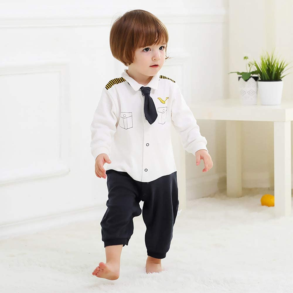 Yilaku Baby Boy Romper Clothes Gentleman Outfits Toddler Infant Formal Suits Jumpsuit Overalls