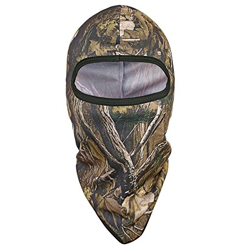 - TAGVO Hunting Balaclava Face Mask, Windproof Camouflage Balaclava Tactical Hood Headwear, Helmets Liner for Adults Women and Men Elastic Universal Size
