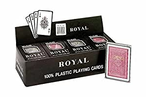 Plastic Poker Playing Cards (Pack of 12)
