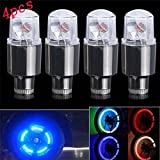 neon car lights exterior - LED Light Lamp , Fabal 4X Bike Car Motorcycle Wheel Tire Tyre Valve Cap Neon LED Flash Light Lamp hot (4PCS)