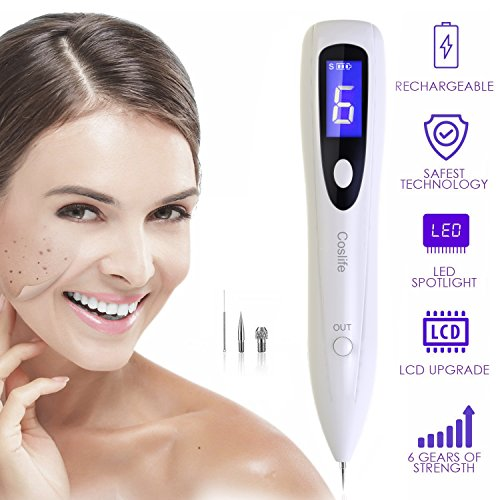 Price comparison product image Dot mole Removal Pen, Eraser Plasma Pen Spot Mole, Tattoo Removal Pen For Skin Tag, Nevus Freckles Dark Spot, Birth Mark, Skin Pigmentation, Age Spots, USB