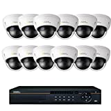 Q-See 16 Channel 3TB NVR IP Security System 12 Cameras 12 4MP Dome Cameras QCN8030D