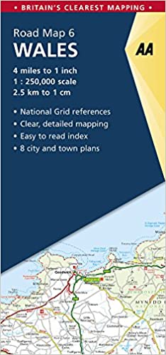 Detailed Map Of Wales Uk.Aa Road Map Wales Aa Road Map Series 06 Aa Road Map Britain