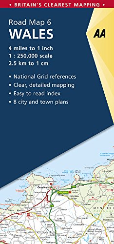 Wales Road Map (AA Road Map Britain) (Aa Road Map)