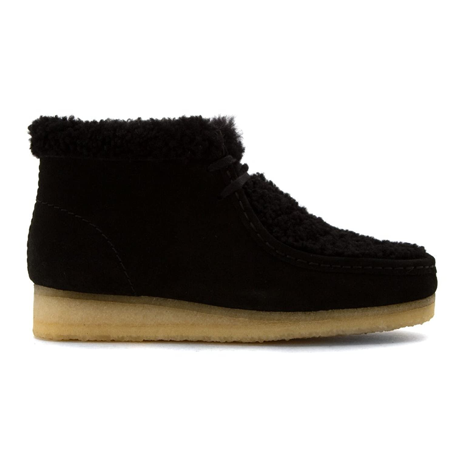 Amazon.com | Clarks Women's Wallabee Chukka Boot, Black Warm Lined Suede,  US 10 M | Ankle & Bootie