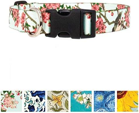 Gold Cherry Blossom Slip-on Dog Bandana