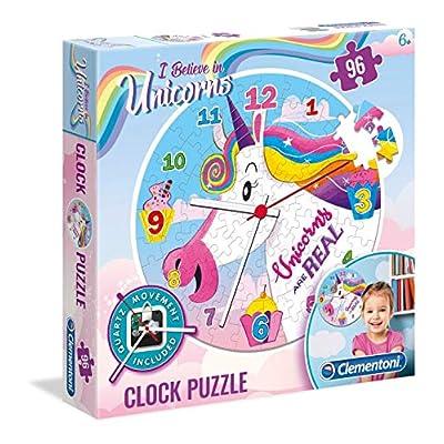 Clementoni Clock Puzzle I Believe In Unicorns 96 Pezzi Multicolore 23035