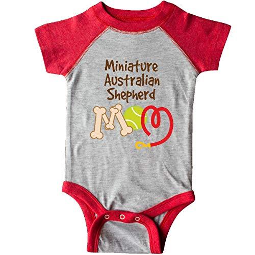 - inktastic - Miniature Australian Infant Creeper Newborn Heather and Red f9ad