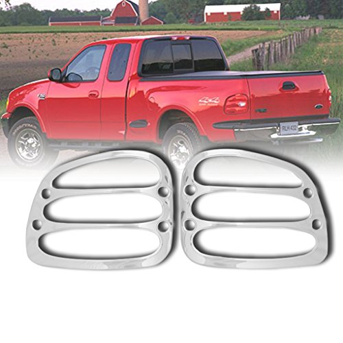 EAG 97-03 Ford F-150 Pickup Flareside Tail Light Bezels Triple Chrome Plated ABS (67-0306) ()
