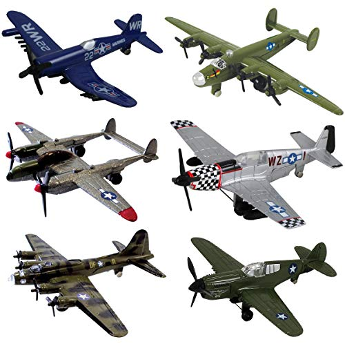 - InAir WWII Planes 6-pc Set with Aircraft ID Guide - Assortment 1